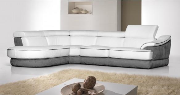Canapé d'angle Bi-matière pour 2388€