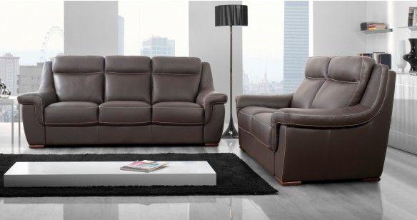 carla salon relaxation fixe cuir buffle personnalisable sur univers du cuir. Black Bedroom Furniture Sets. Home Design Ideas