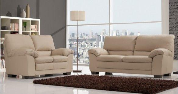 emeliza salon 3 2 cuir vachette premium personnalisable. Black Bedroom Furniture Sets. Home Design Ideas