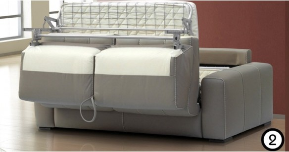 RIALTO convertible Cuir système express FAST'BED