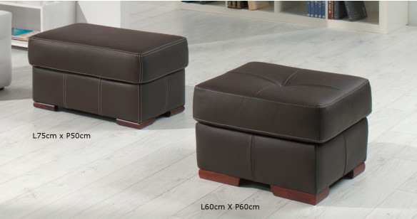 RODRIGUE Salon 3+2 Cuir Design Italien