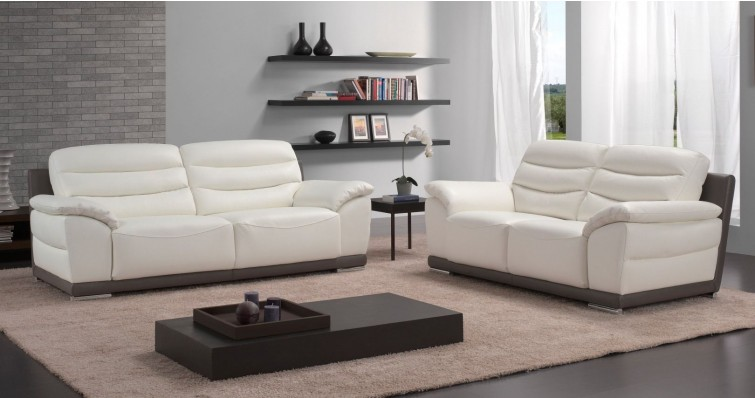 Canap� Contemporain BORMES Cuir Bi-Color