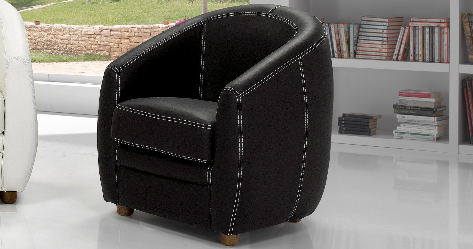 fauteuil cabriolet asti cuir. Black Bedroom Furniture Sets. Home Design Ideas
