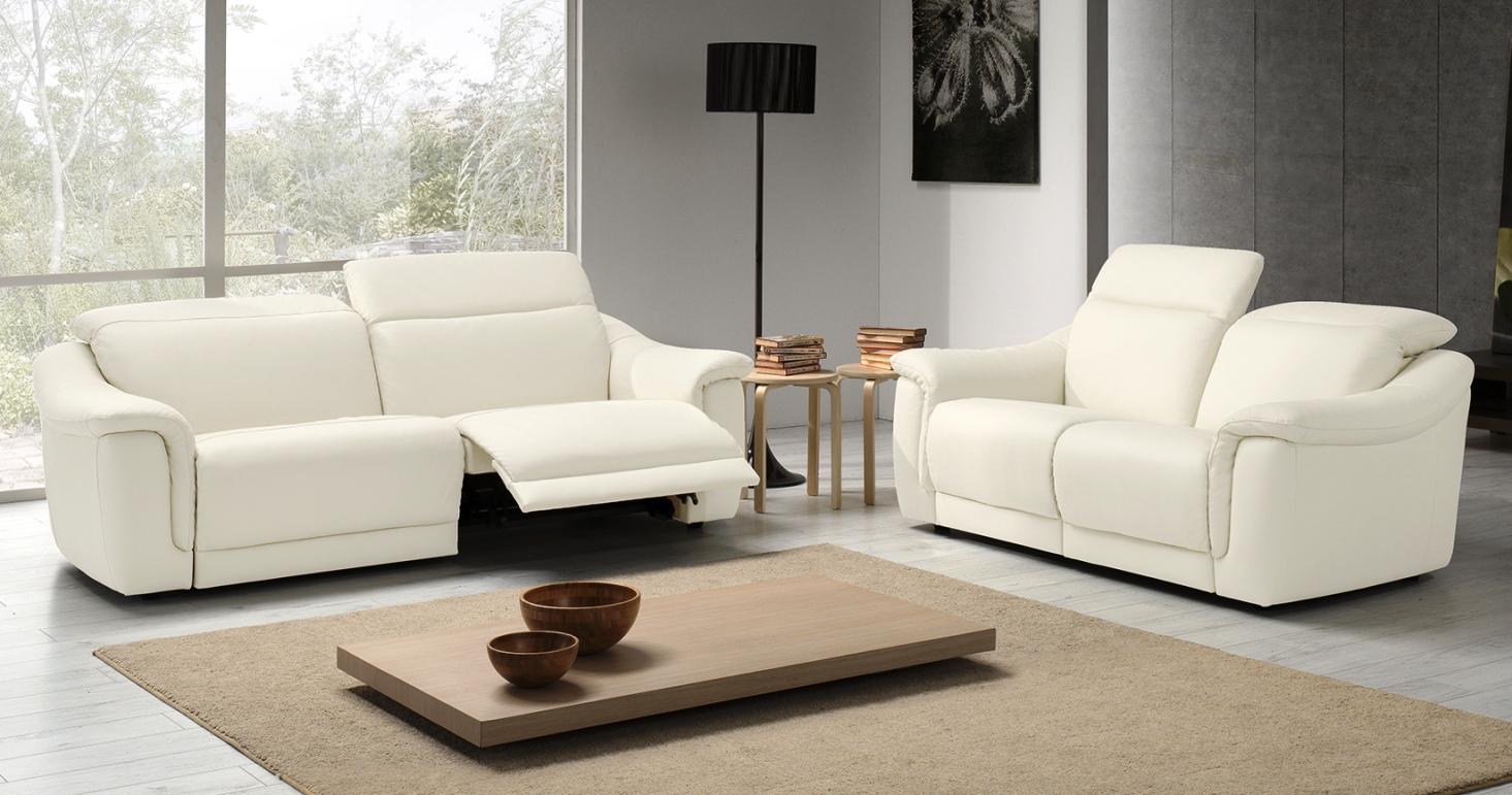Irena relaxation lectrique ou fixe personnalisable sur for Salon cuir relax electrique