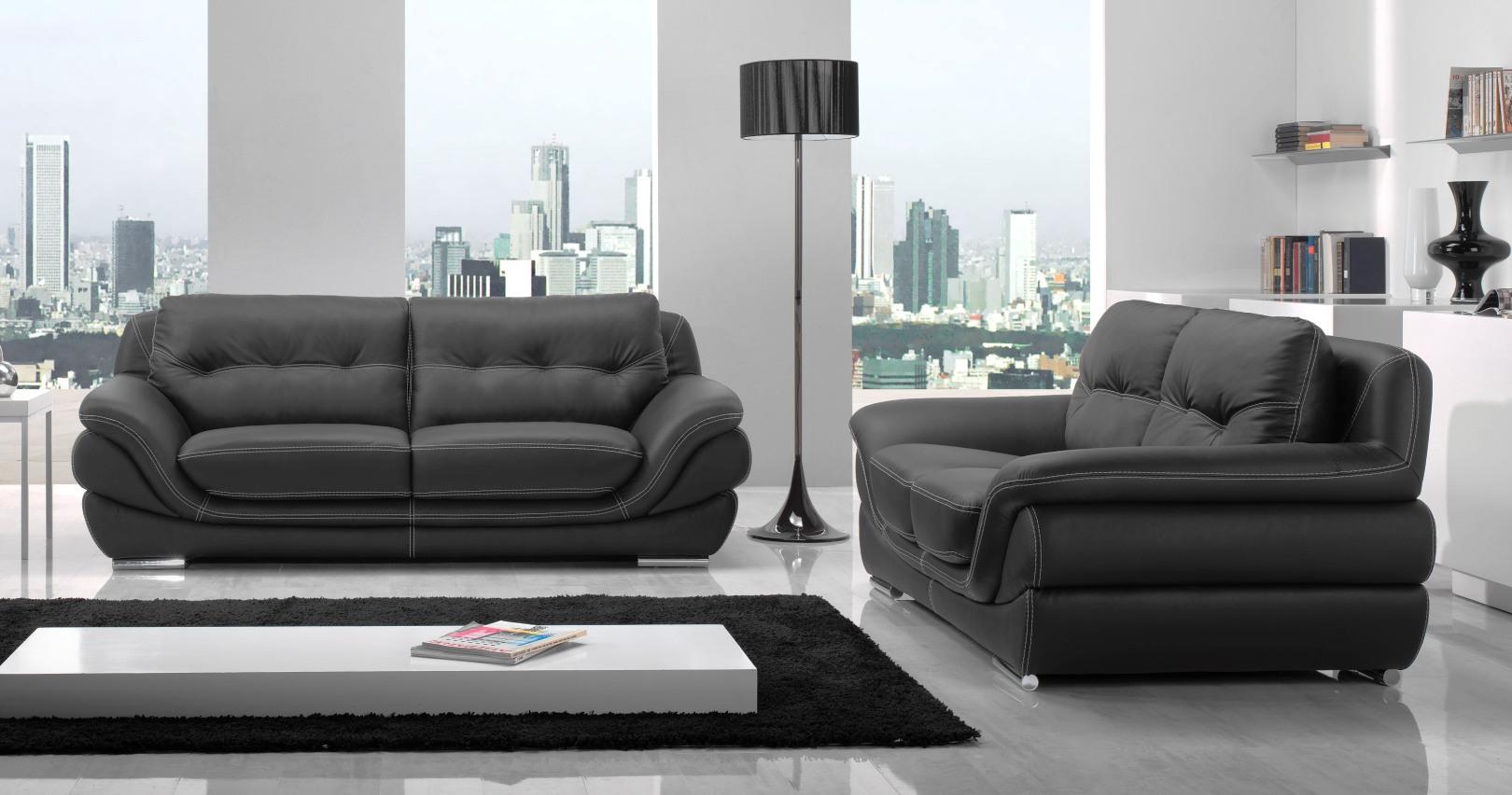 Mexico salon 3 2 cuir personnalisable sur univers du cuir for Salon du canape