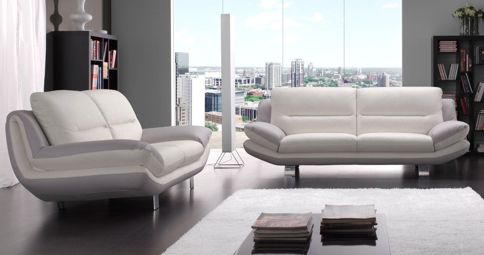 nashik salon 32 bicolore ou unicolore - Canape Cuir Moderne Contemporain