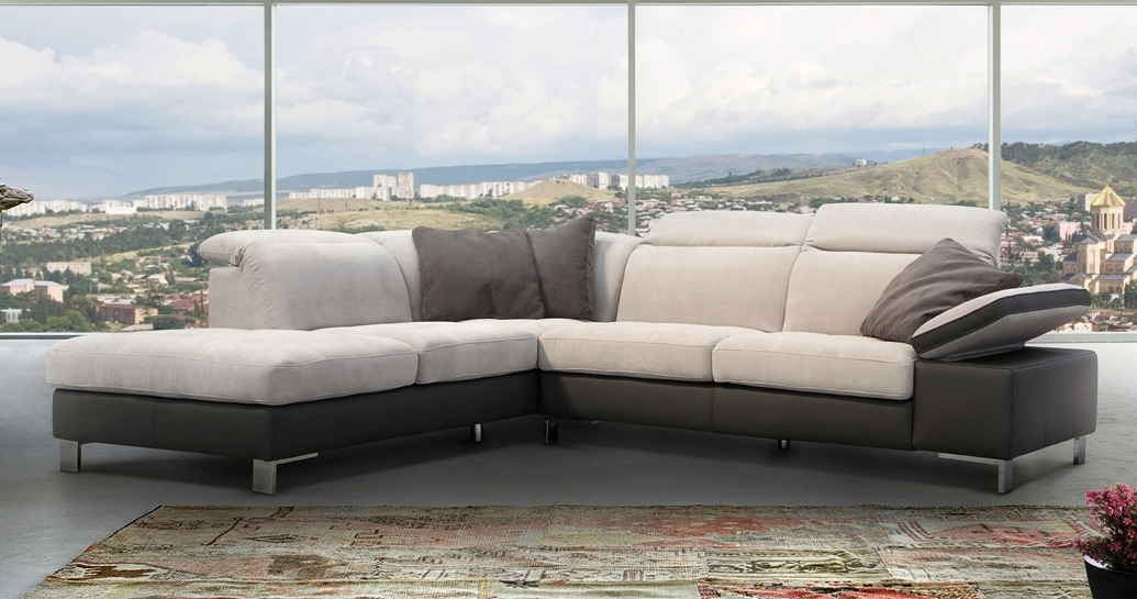 navajo canap cuir et microfibre angle terminal pouf sur univers du cuir. Black Bedroom Furniture Sets. Home Design Ideas