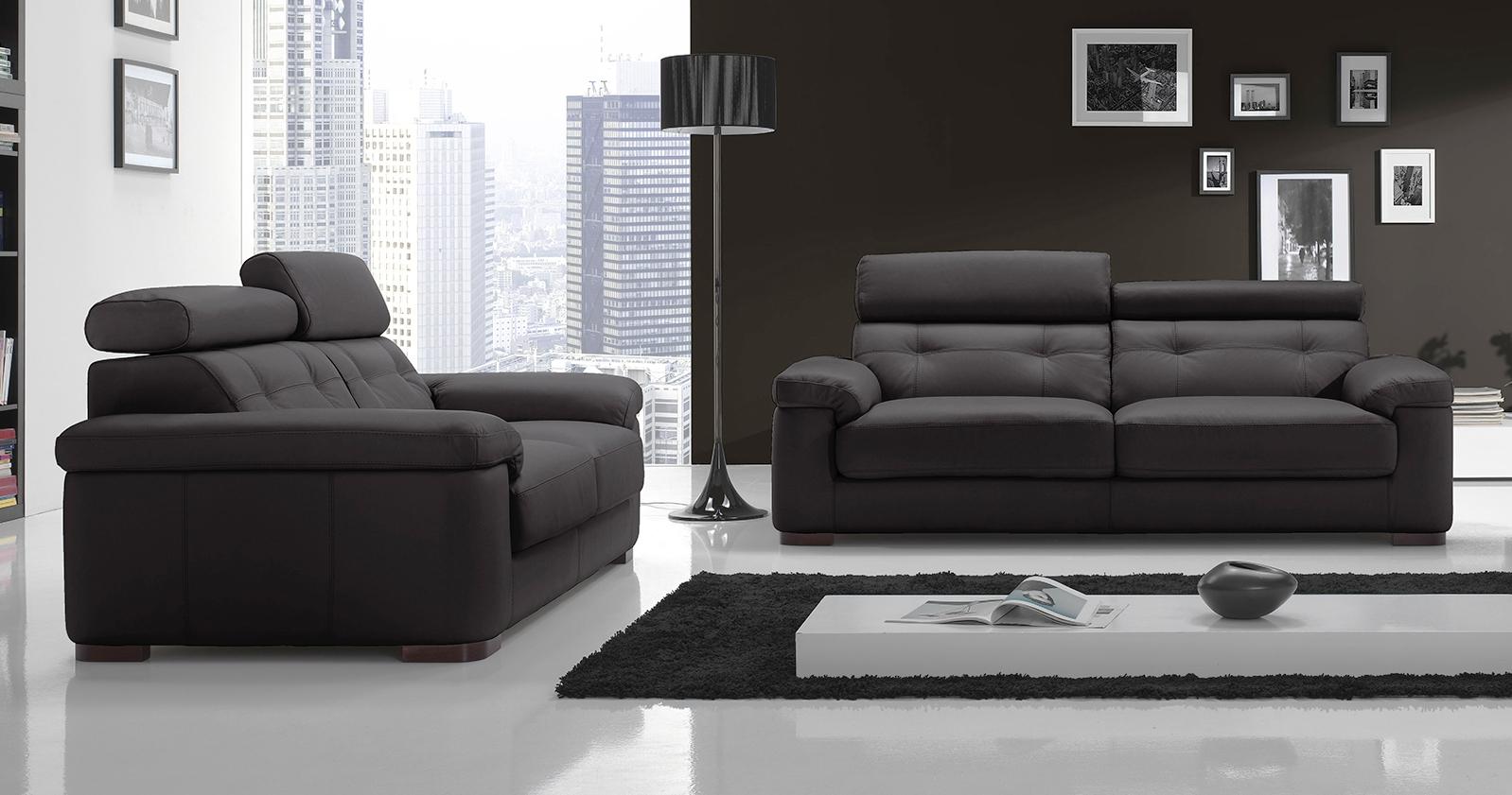 nice salon 3 2 buffle ou vachette personnalisable sur univers du cuir. Black Bedroom Furniture Sets. Home Design Ideas