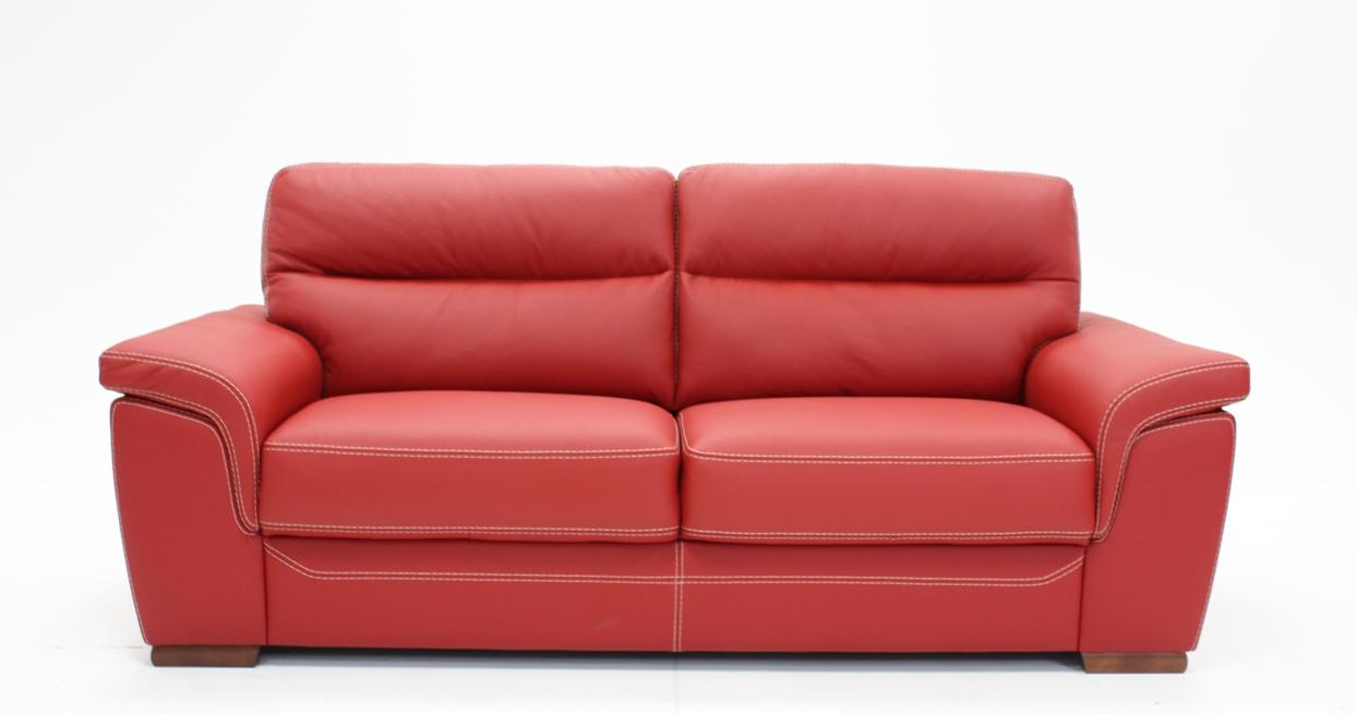 canap cuir premium rouge randy plusieurs coloris au choix. Black Bedroom Furniture Sets. Home Design Ideas