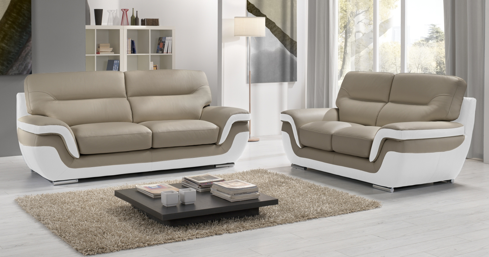 canapé RODRIGUE Salon 3 2 Cuir Design Italienpersonnalisable sur
