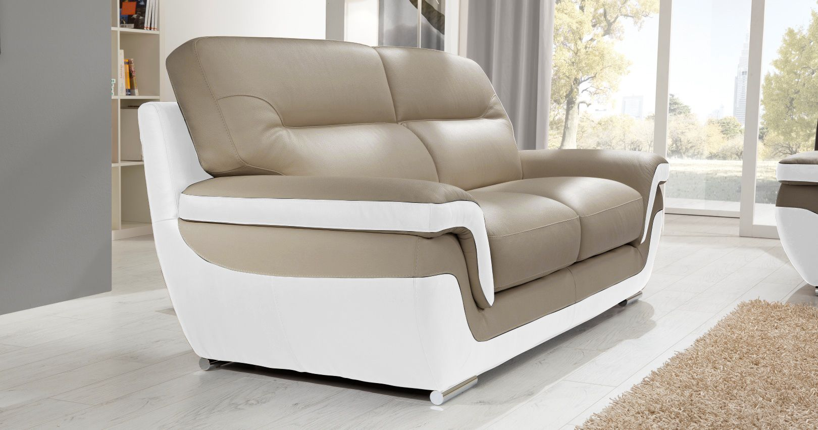 canap rodrigue salon 3 2 cuir design. Black Bedroom Furniture Sets. Home Design Ideas