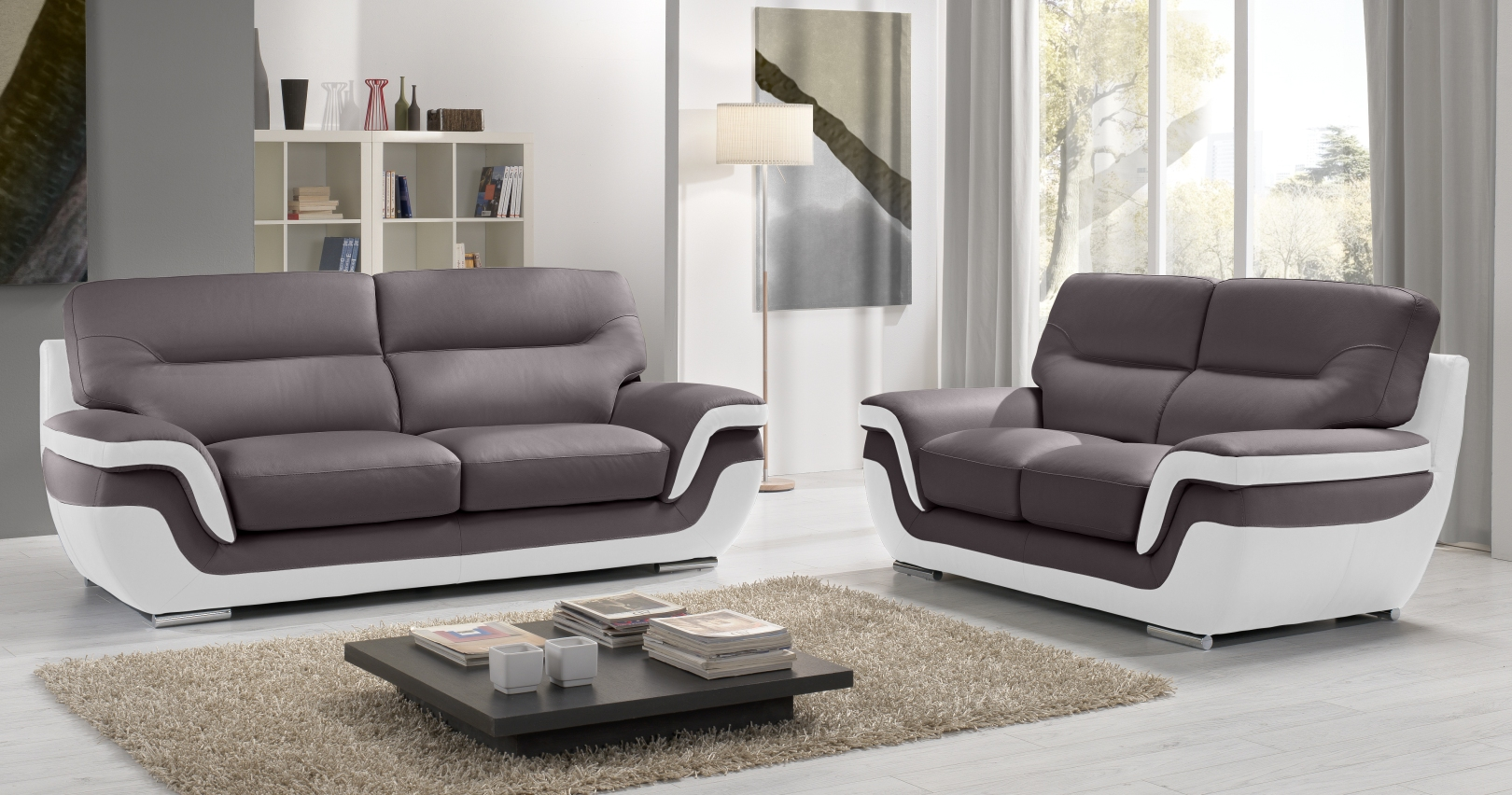 canapé RODRIGUE Salon 3+2 Cuir Design Italienpersonnalisable sur ...
