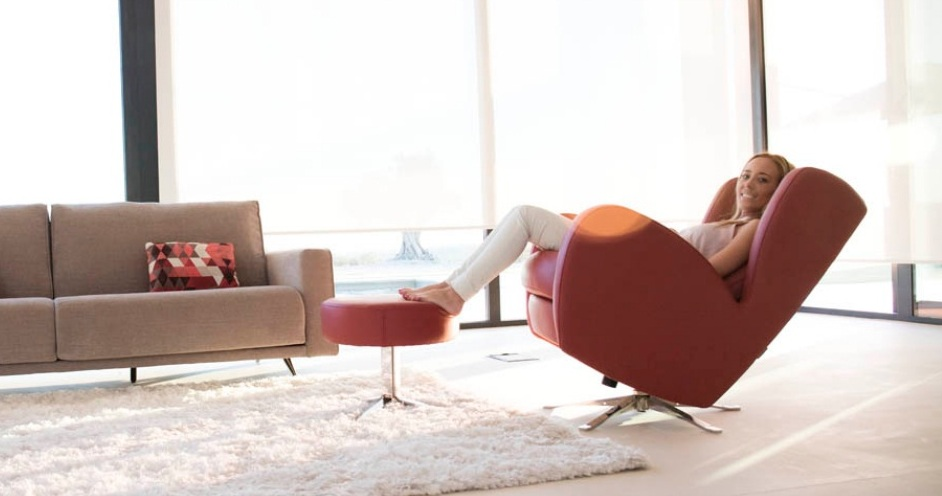 Romeo fauteuil relaxation pivotant basculant - Fauteuil relax contemporain ...