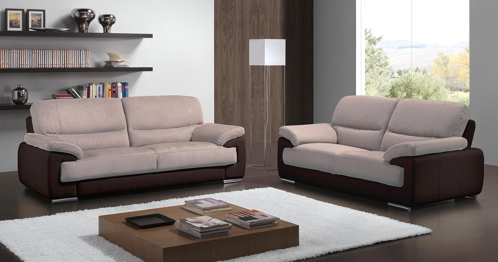 salon 3 2 toulon cuir pr mium et microfibre sur univers du. Black Bedroom Furniture Sets. Home Design Ideas
