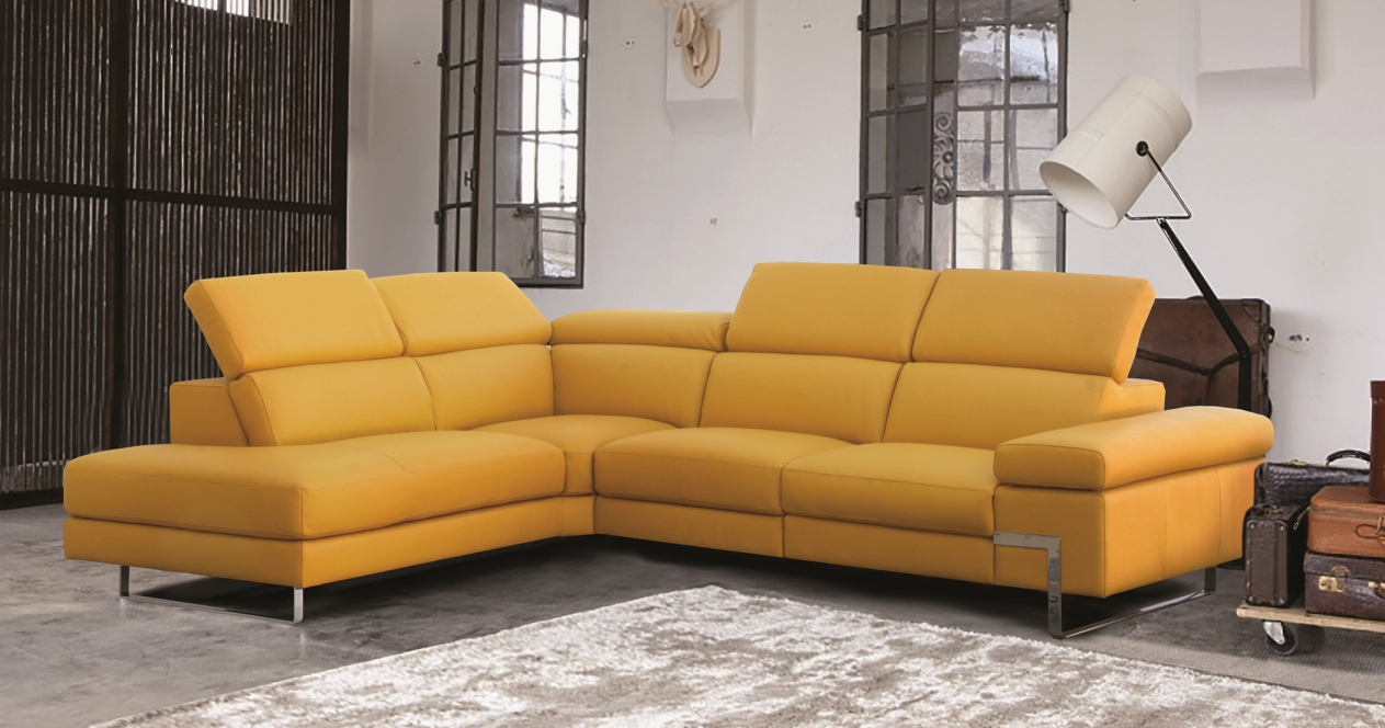 Fauteuil Relax Jaune Moutarde uranus angle cuir 1.8mm avec relaxation ou fixe
