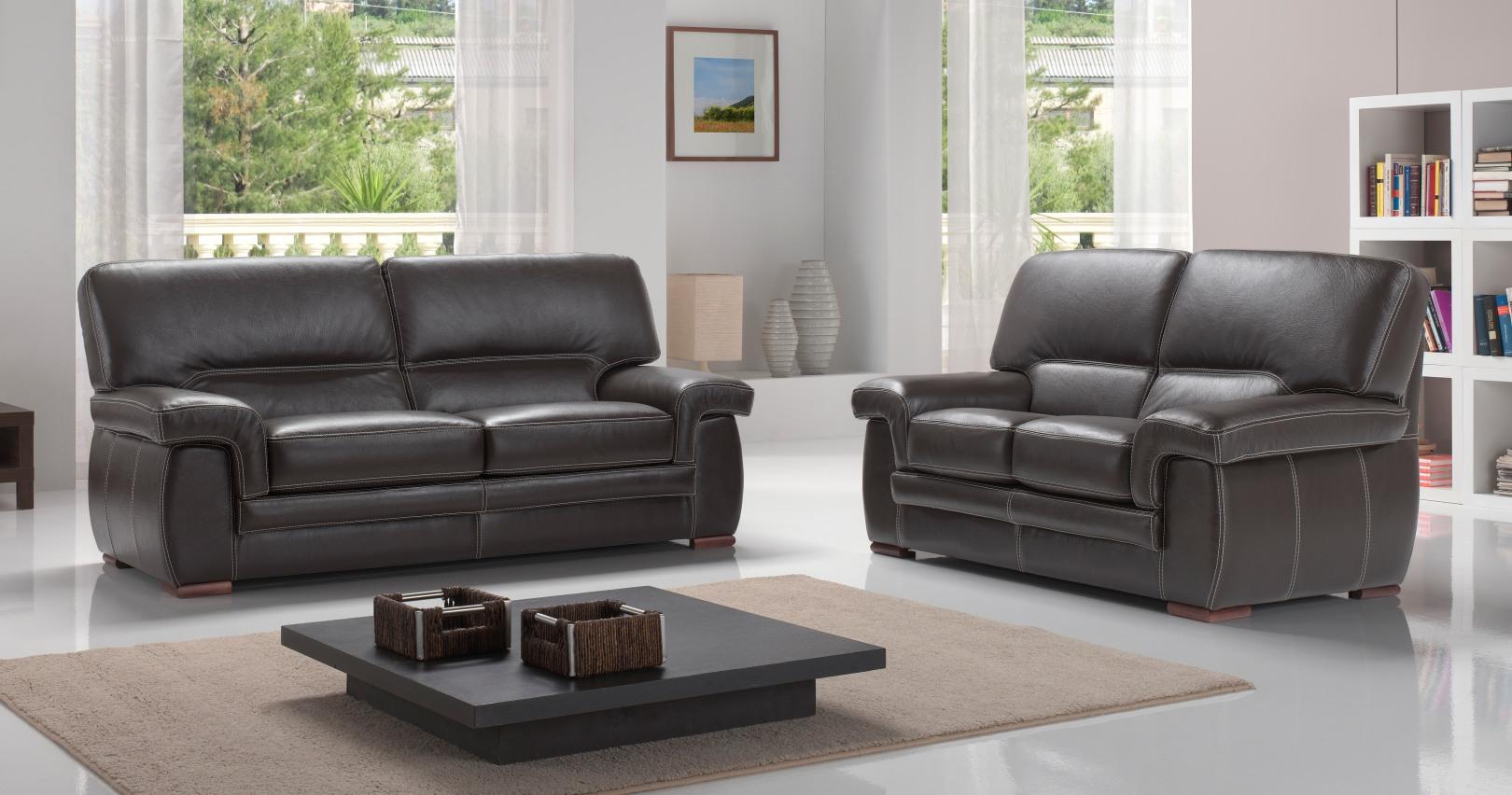 emejing salon moderne cuir pictures awesome interior home satellite. Black Bedroom Furniture Sets. Home Design Ideas