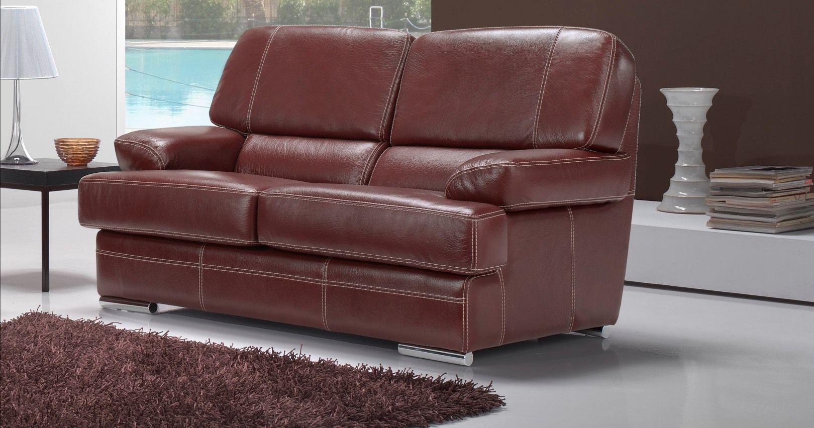 canapé cuir vasto buffle ou vachette choix coloris et finitions