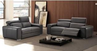 DODGE Relaxation électrique Ou Fixe En Cuir épais Mm - Canapé relaxation cuir