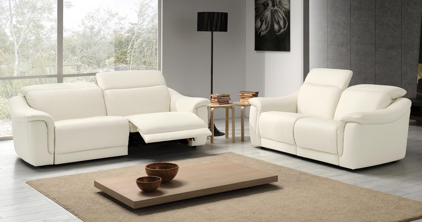 Canap cuir relaxation lectrique ou fixe irena personnalisable sur univers du cuir - Salon relaxation electrique ...