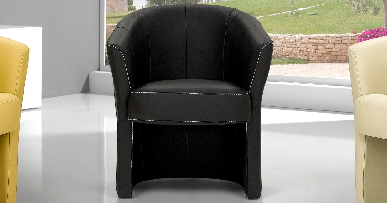 fauteuil cabriolet alba cuir personnalisable sur univers. Black Bedroom Furniture Sets. Home Design Ideas